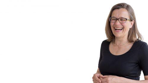 Dagmar Gerigk lachend